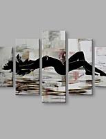 Ручная роспись Люди Современный Художественный Абстракция 5 панелей Холст Hang-роспись маслом For Украшение дома