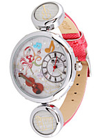 Women's Fashion Watch Quartz Leather Band Red