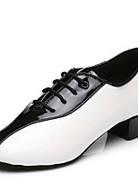 Men's Dance Shoes Leatherette Leatherette Latin / Ballroom Heels Low Heel Professional / Indoor / Performance / Practice