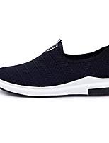 Herren Loafers & Slip-Ons Komfort PU Frühling Herbst Sportlich Walking Komfort Ausgehöhlt Flacher Absatz Schwarz Grau Blau 5 - 7 cm