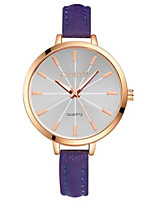 Women's Fashion Watch Quartz PU Band Black Blue Purple