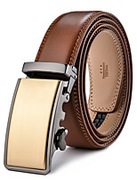 Men's Genuine Leather Waist Belt Fashion/Business/Dress/Casual Light Brown Belts