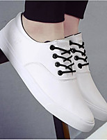 Men's Sneakers Leatherette PU Spring White Black Blue Flat