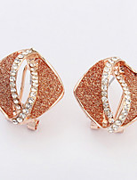Euramerican  Adorable Elegant Rhinestone  Square  Women's Daily Earrings Set  Movie Jewelry