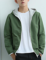 Men's Casual Hoodie Solid Hooded Micro-elastic Cotton Long Sleeve Spring Fall
