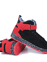 Men's Sneakers Comfort Suede Spring Athletic Casual White Black Ruby Flat