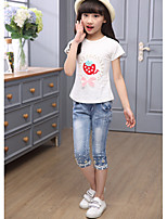 Girls' Casual/Daily Solid Pants-Others All Seasons