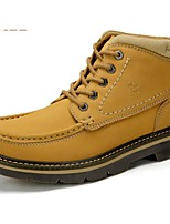 Camel Men's Comfort Cow Leather Durable Outdoor Lace-up Shoes Color Khaki/Earth Yellow
