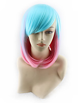 Color Gradient Europe and the United States New Cos Wig Japanese Harajuku Wig 12inch