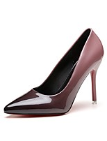 Women's Heels Leatherette Summer Fall Stiletto Heel Gray Ruby Blushing Pink 3in-3 3/4in