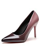 Feminino Saltos Courino Verão Outono Salto Agulha Cinzento Vermelho Rosa claro 7,5 a 9,5 cm