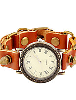 Women's Fashion Watch Digital Leather Band Brown