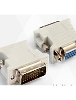 DVI Adapter, DVI to VGA Adapter Male - Female 720P Nickel-plated steel