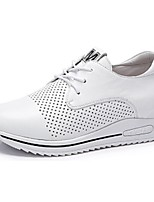Camel Women's  Comfort Cowhide Casual Inside Wedge Heel Lace-up Shoes Color White/Black
