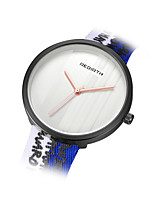 REBIRTH Women's Fashion Watch Chinese Quartz Fabric Band Black Blue Red Brown