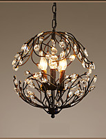 Pendant Light ,  Lantern Painting Feature for Crystal Candle Style Metal Living Room Indoors Hallway 3 Bulbs