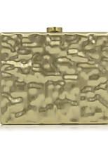 Для женщин Вечерняя сумочка Металл Все сезоны На каждый день Для праздника / вечеринки Для свадьбы Минодьер Металлик Кнопка Золотой