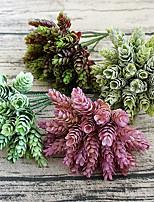 1 Pièce 1 Une succursale Plastique Plantes Fleur de Table Fleurs artificielles