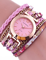 Women's Quartz Colorful Leather Band Charm Bracelet Watch