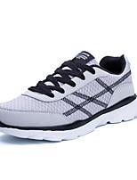 Men's Sneakers Comfort Light Soles PU Spring Fall Athletic Outdoor Comfort Light Soles Low Heel Gray Blue Black/Red Under 1in