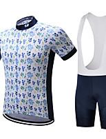 SUREA Maillot de Ciclismo con Shorts Bib Hombres Mangas cortas Bicicleta Sets de PrendasSecado rápido Transpirable Compresión Reductor