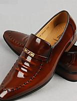 Для мужчин Мокасины и Свитер Формальная обувь Кожа Весна Осень Повседневный На плоской подошве Черный Коричневый 2,5 - 4,5 см