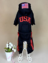 Dog Clothes/Jumpsuit Dog Clothes Casual/Daily Solid Ruby Orange Black