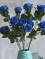 1 Une succursale Plastique Roses Fleur de Table Fleurs artificielles