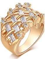 Damen Bandringe Ring Kubikzirkonia Modisch Vintage Elegant Kubikzirkonia Runde Form Schmuck Für Hochzeit Party Alltag