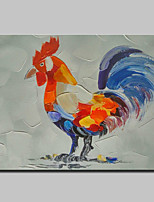 Hand-Painted Animal Oil Painting On Canvas Modern Art Abstract Cock Wall Picture For Home Decoration Ready To Hang