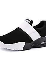 Women's Athletic Shoes Comfort Light Soles Canvas Spring Summer Fall Outdoor Athletic Casual Running Magic Tape Wedge Heel Black White