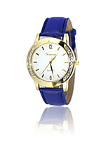 Women's Fashion Watch Quartz PU Band White Blue Brown