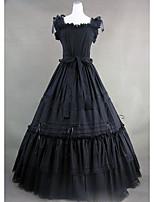 Un Pezzo/Vestiti Gotico Cosplay Vestiti Lolita Vintage Ad aletta Manica corta Raso terra Abito Per Altro