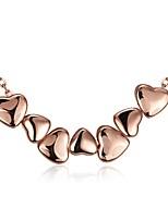Жен. Ожерелья-бархатки Ожерелья с подвесками Бижутерия Цирконий В форме сердца Геометрической формыХрусталь Медь Позолота Позолоченное