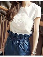T-shirt Pantalone Completi abbigliamento Da donna Matrimonio Magnetico Estate Autunno,Tinta unita A strisce Rotonda Manica corta