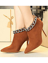 Women's Boots Comfort PU Spring Casual Almond Red Brown Flat