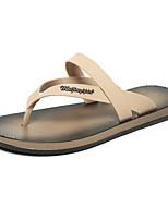 Men's Slippers & Flip-Flops Comfort Rubber Spring Casual Comfort Khaki Black White Flat
