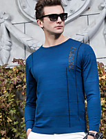 Men's Other Casual Regular Cardigan,Solid Round Neck Long Sleeve Roman Knit All Seasons Medium Stretchy