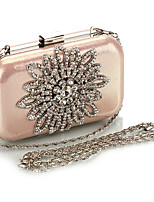 Women Evening Bag PU All Seasons Formal Casual Event/Party Wedding Minaudiere Crystal/ Rhinestone Clasp Lock Black Gold