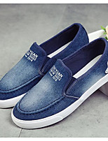 Damen Loafers & Slip-Ons Leinwand Frühling Marinenblau Hellblau Flach