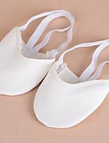 No Personalizables Mujer Ballet Tela Suela Dividida Entrenamiento Blanco Nudo