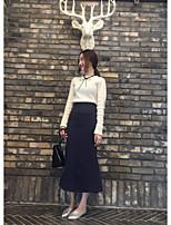 Women's Daily Regular Cardigan,Solid Round Neck Long Sleeve Cotton Summer Medium Micro-elastic