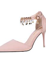Femme Chaussures à Talons Similicuir Printemps Eté Automne Strass Talon Aiguille Noir Gris Rouge Rose Vert clair 10 à 12 cm