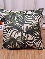 1 Pcs Tropical Plant Printing Pillow Cover Cotton/Linen Square Pillow Case