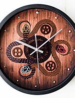 Ретро Животные Настенные часы,Круглый Новинки В помещении Часы