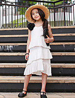 Girl's Solid Color Dress,Rayon Summer Sleeveless