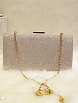 Women Evening Bag PU All Seasons Event/Party Party & Evening Club Baguette Magnetic Silver Black Gold Champagne