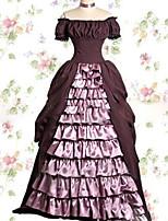 One-Piece/Dress Sweet Lolita Lolita Cosplay Lolita Dress Vintage Cap Short Sleeve Floor-length Dress For Other