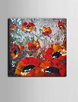 Hand-Painted Knife Abstract Flower Oil Painting Home Wall Art With Stretcher Frame Ready To Hang