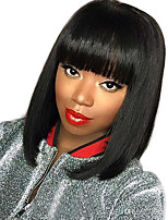 New Style Brazilian Virgin Hair Bob Wigs Straight Hair Lace Front Human Hair Wigs for Woman Short Virgin Hair Bob Wig with Bang